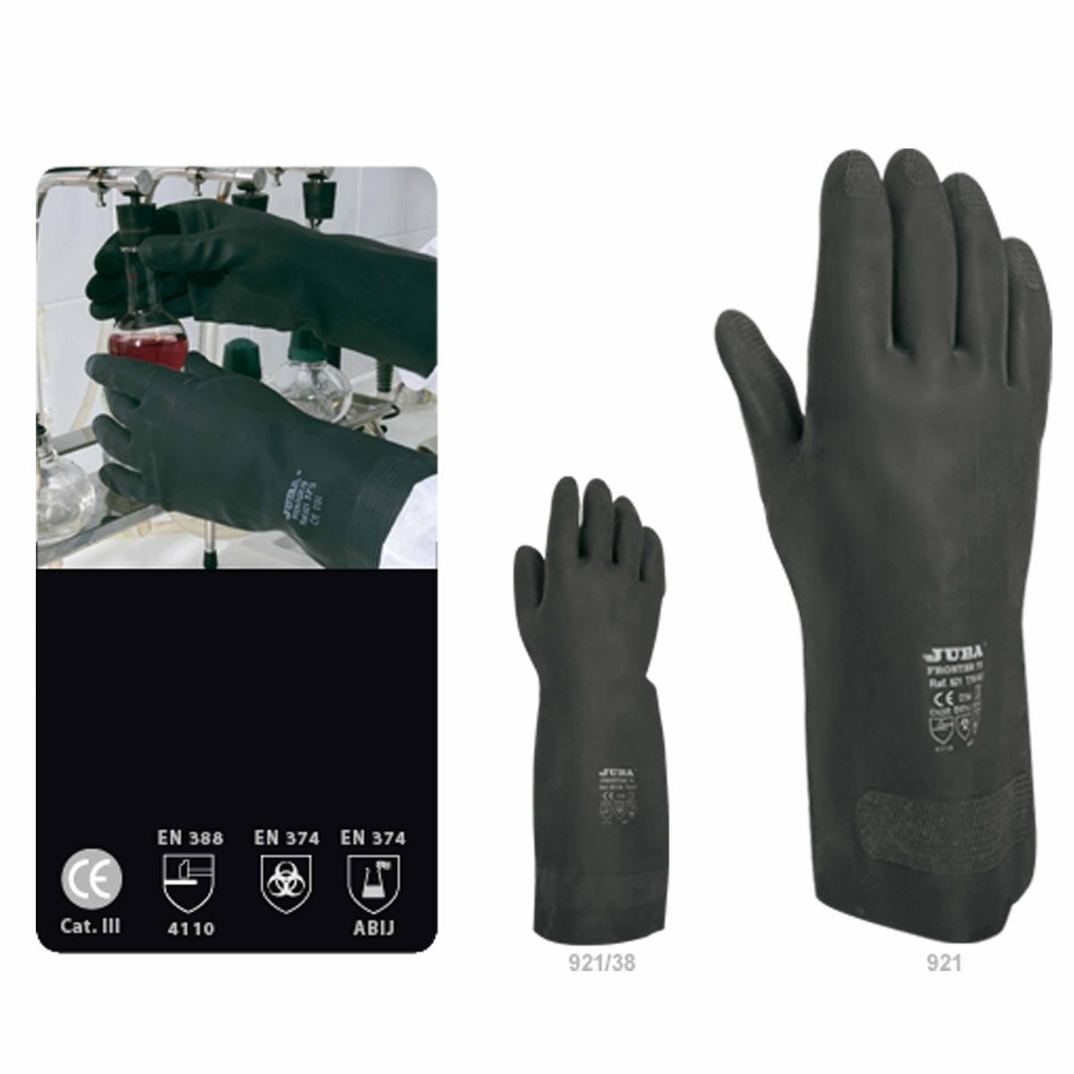 guantes industriales neopreno flocado negro. Cargando zoom. c4477dc7752