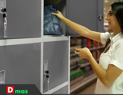 guardabultos, lockers para comercios