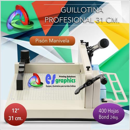guillotina profesional cortadora de papel 31cm corta400bond