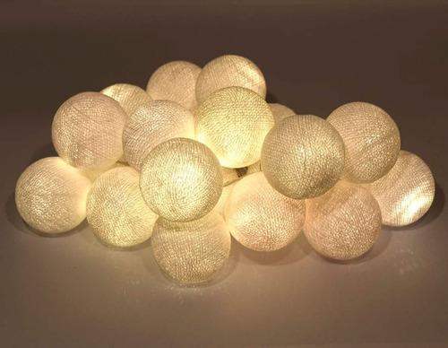 guirnalda de luces cotton ball enchufe. a brillar mi amor.