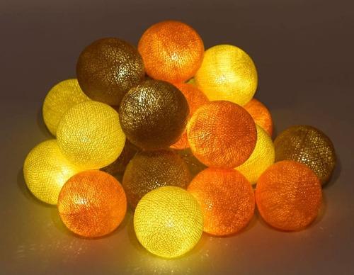 guirnalda de luces esferas hilo a pila - a brillar mi amor