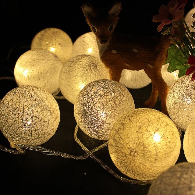 Guirnalda guia 3 6 metros de 20 luces esferas led c lidas - Luces led calidas ...