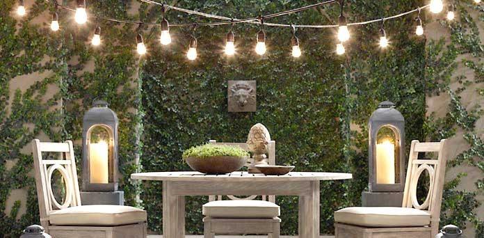 Guirnalda guia de luces led para exterior tipo bombita - Luces led calidas ...