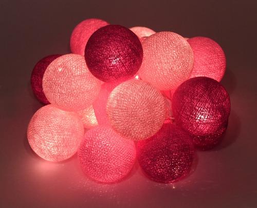 guirnalda luces de esferas - enchufe - a brillar mi amor.