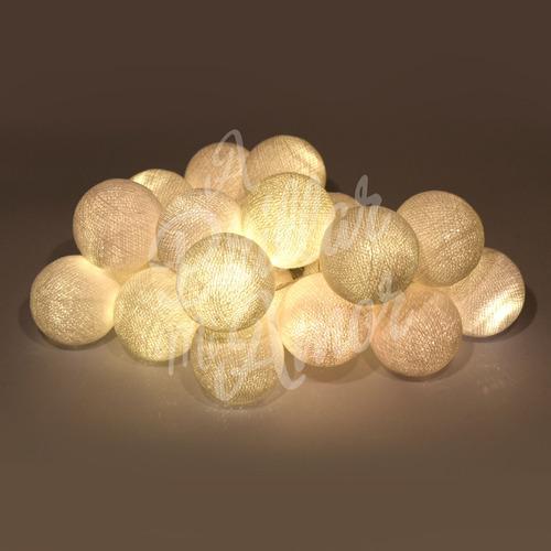 guirnaldas de luces a pila esferas hilo - a brillar mi amor.