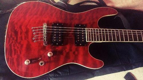 guitarra cort kx1q con seymour duncan blackout ahb-2 metal