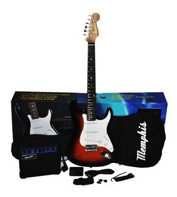 guitarra electrica pack memphis strato consultar colores