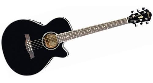 guitarra electroacustica ibanez aeg8e bk negro