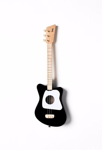 guitarra loog mini color negro de 3 cuerdas