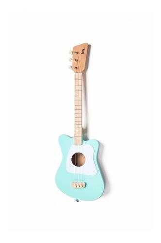 guitarra loog mini color verde de 3 cuerdas