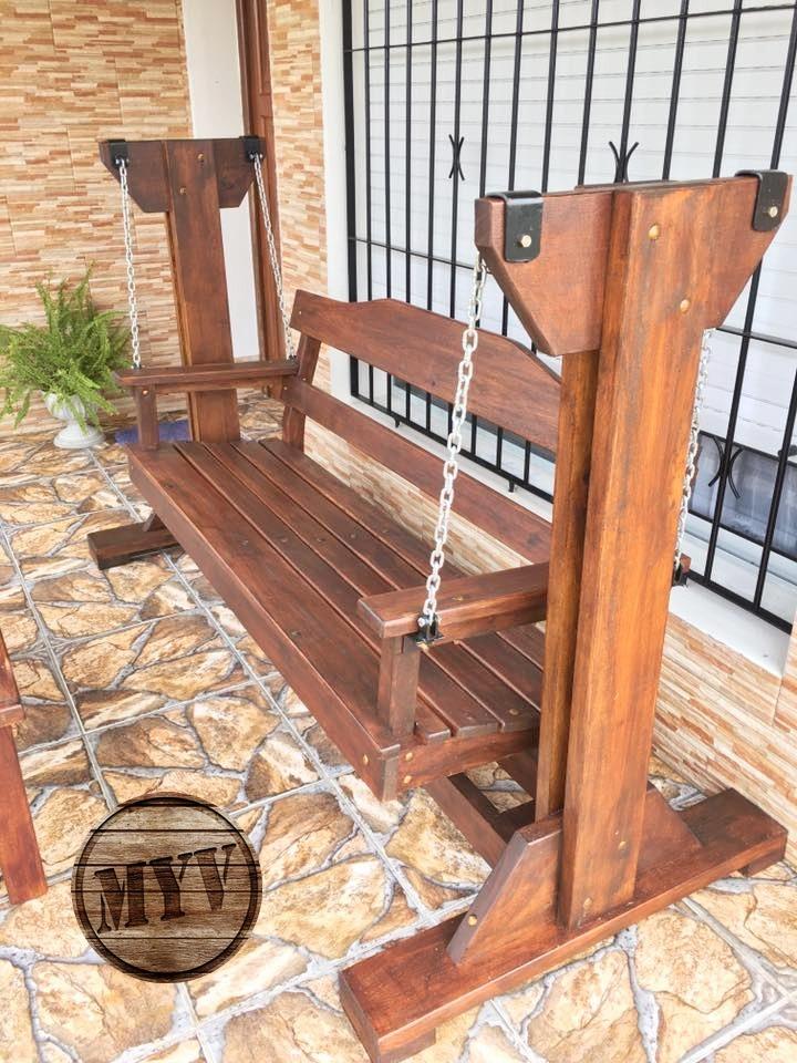 Hamaca En Madera Sin Techo Para Jardín Exterior - U$S 485,00 en Mercado Libre
