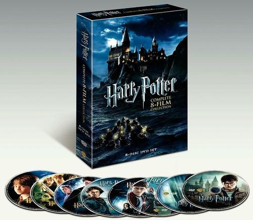 harry potter: las 8 películas en dvd, pack imperdible!