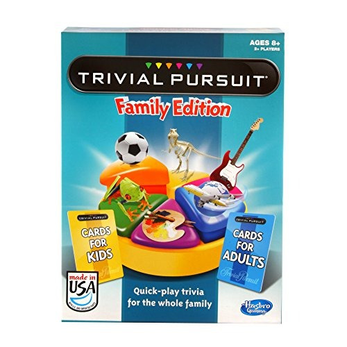 hasbro trivial pursuit family edition game game night age