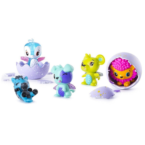 hatchimal colleggtibles pack x 2 más nido temporada 2