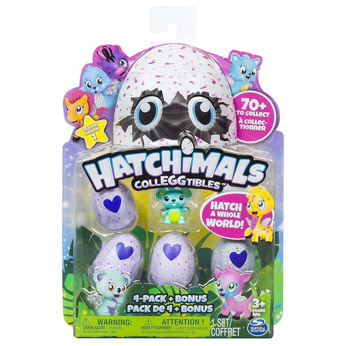 hatchimals coleccionable pack x 4 - mosca