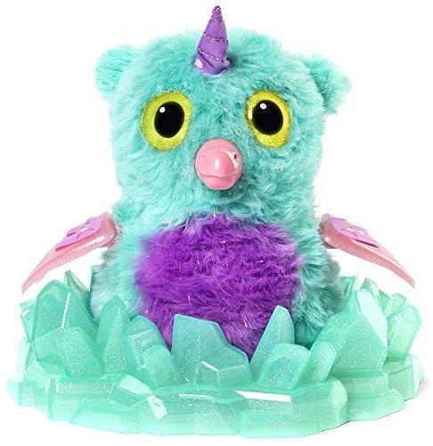 hatchimals glittering garden - exclusivo brillante owlico