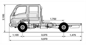 hd50 doble cabina 2.5 ton. garantia 4 años sin limite de kms