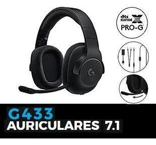 headset logitech g433 negro gaming usb 3.5mm elegantes