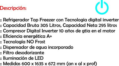 heladera samsung frío seco rt29 inox inverter t cooling ebz