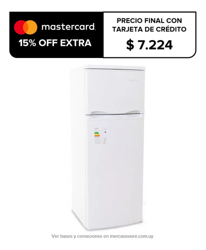heladeras smartlife 212 lts con freezer clase a oferta pcm