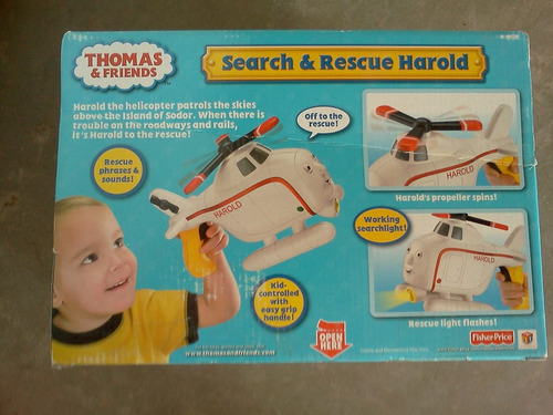 helicoptero harold con linterna thomas & friends trabucle