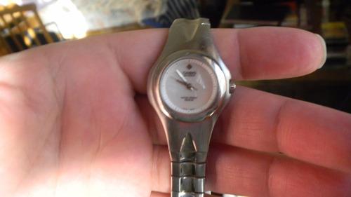 hemoso reloj casio de dama en acero muy fino leer! repuesto