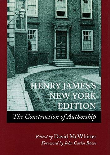 henry jamess new york edition : john carlos rowe