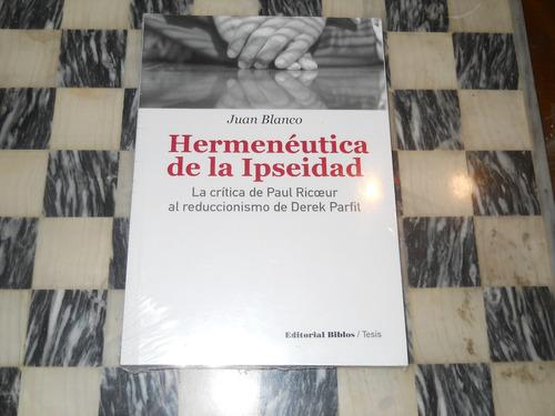 hermeneutica de la ipseidad juan blanco