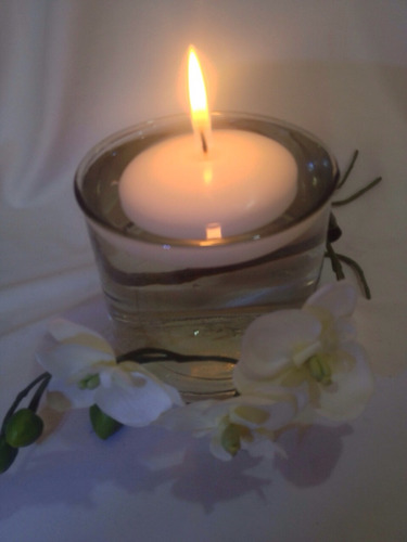 hermosa vela flotante 6 cm alta calidad paq c/10pzas