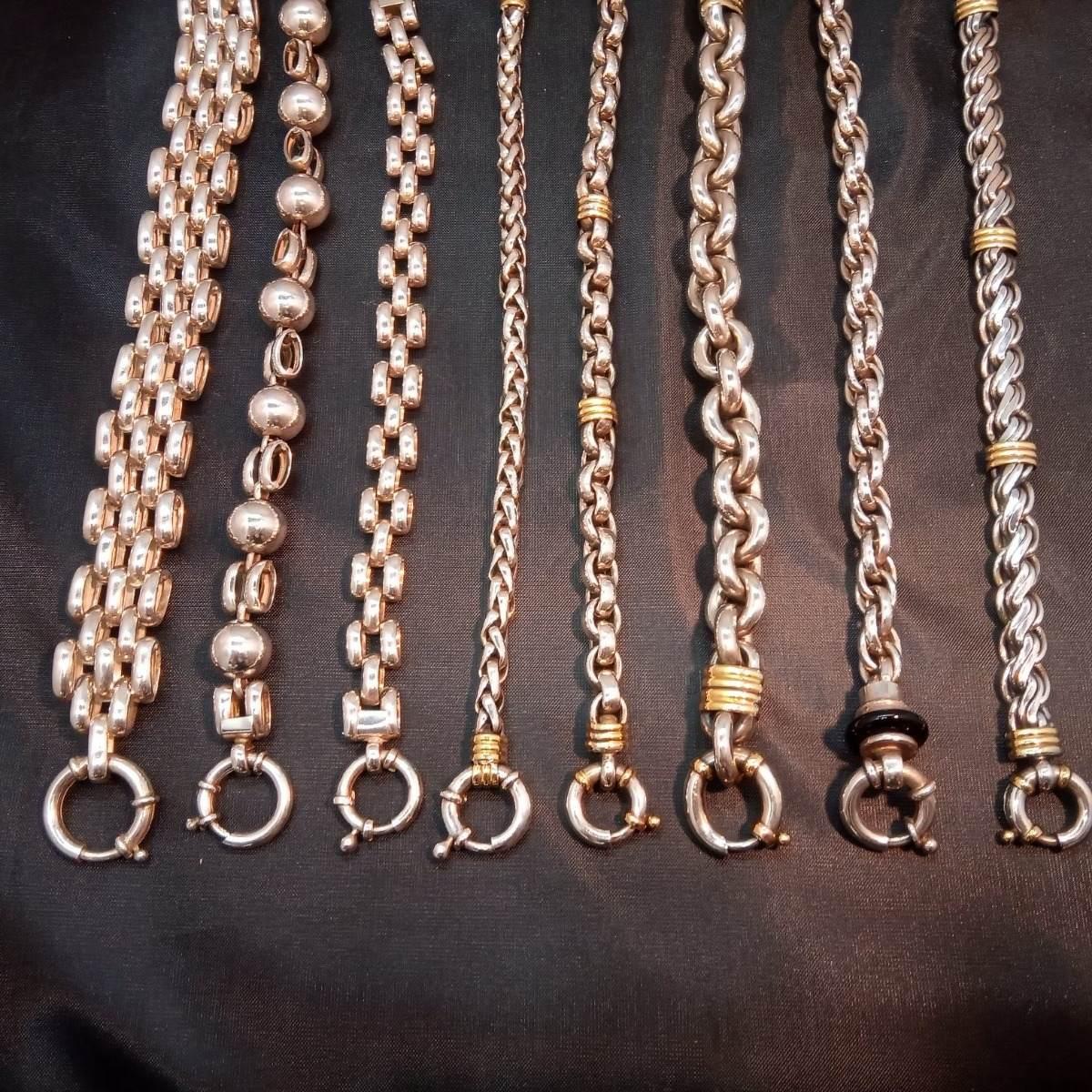 55d904fcef93 hermosas pulseras de plata 925 y oro 18k. Cargando zoom.