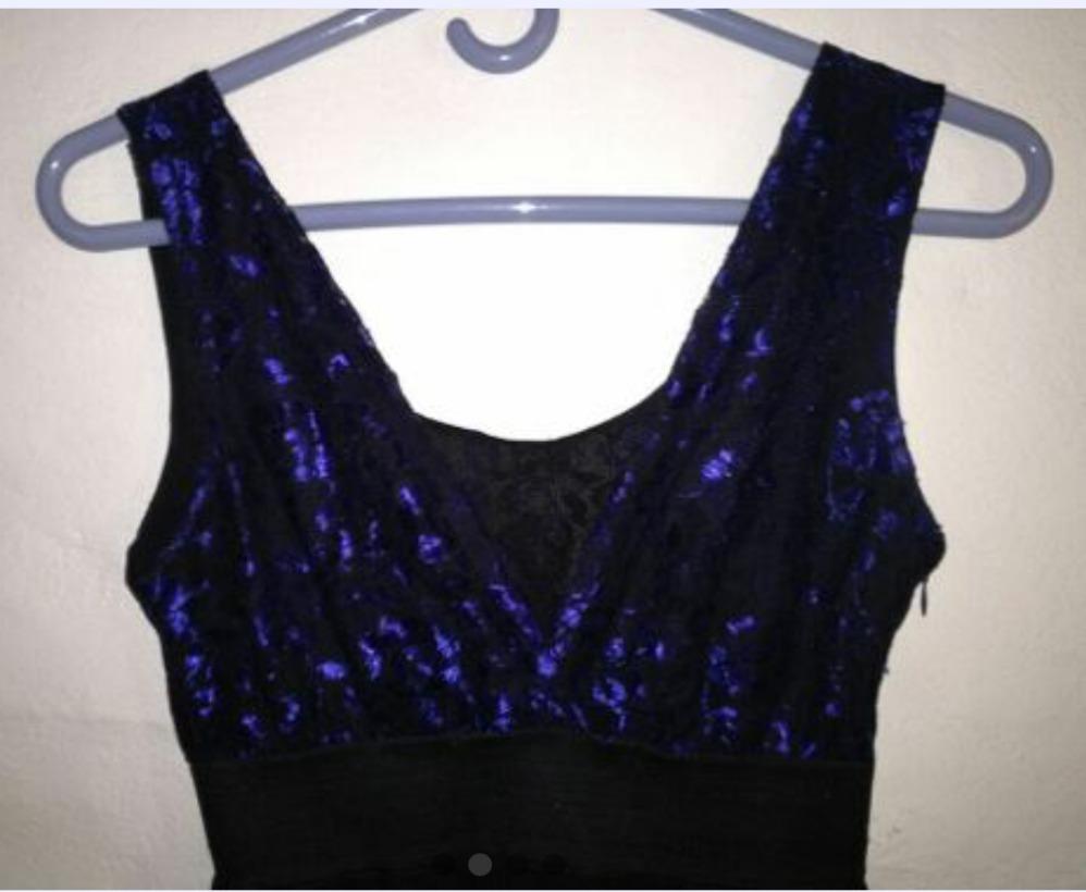 Hermoso Vestido Azul Y Negro