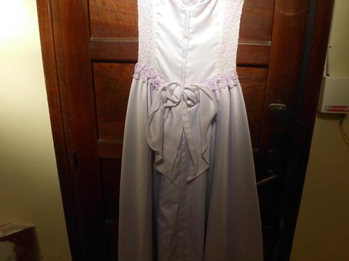 hermosìsimo vestido de 15 en seda con strapless color lila