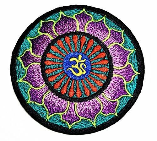 bf3764200a79 Hho Psychedelic Hippie Verde Y Morado Lotus Parche Bordad - U S 37 ...