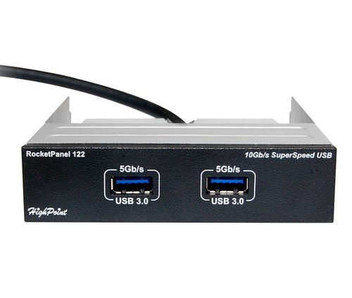 highpoint 10gb s superspeed usb 3.0 dual port front panel