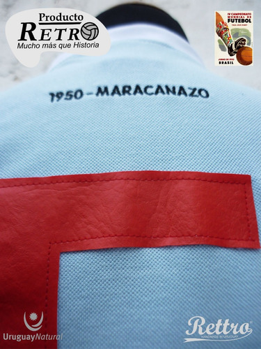 hit de rusia!camiseta rettro maracanazo 1950 uruguay natural