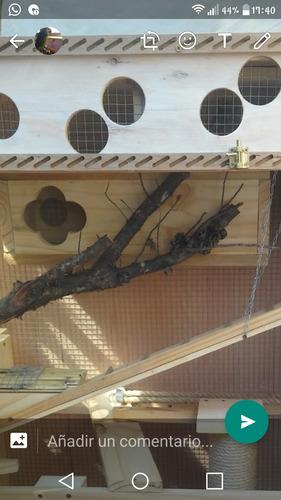 hogares o jaulones. accesorios y trabajos en madera.