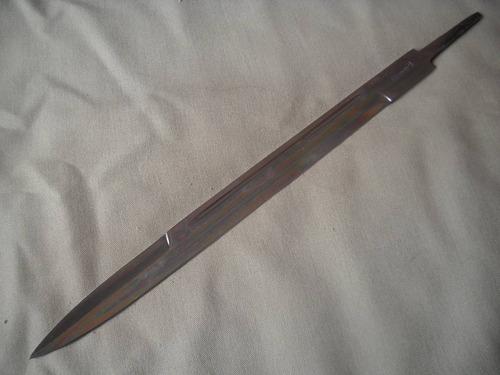 hoja daga argentina  35 cms para encabar carbono cuchillo