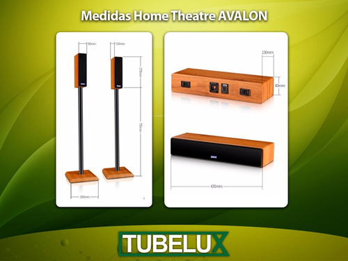 home theater 5.1 parlantes avalon bluetooth usb fm control