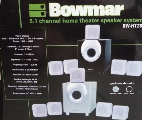 home theater bowmar5.1 bw-ht20  nuevos!parlantes pc/tv/dvd