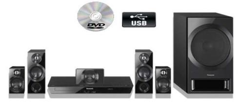 home theater panasonic 5.1ch 11000w con reproductor de dvd