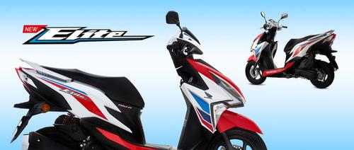 honda elite 125 tricolor 2018 0km scooter avant motos