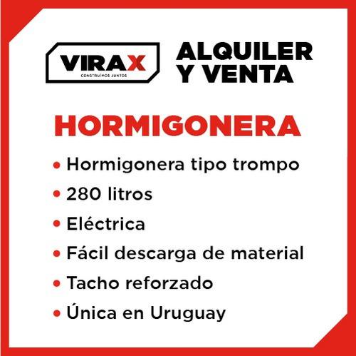 hormigonera, trompito, mezcladora, alquiler, venta, virax