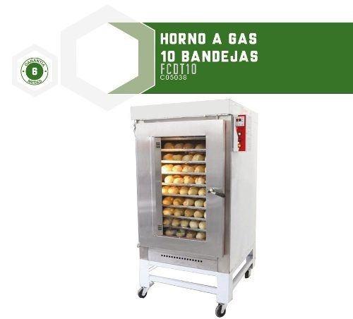 hornos comerciales a gas 10 bandejas brascal - fama