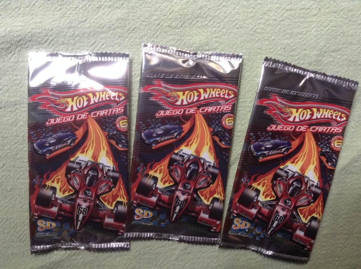 Hot Wheels Juego De Cartas Coleccionables 10 Sobres X 50 90