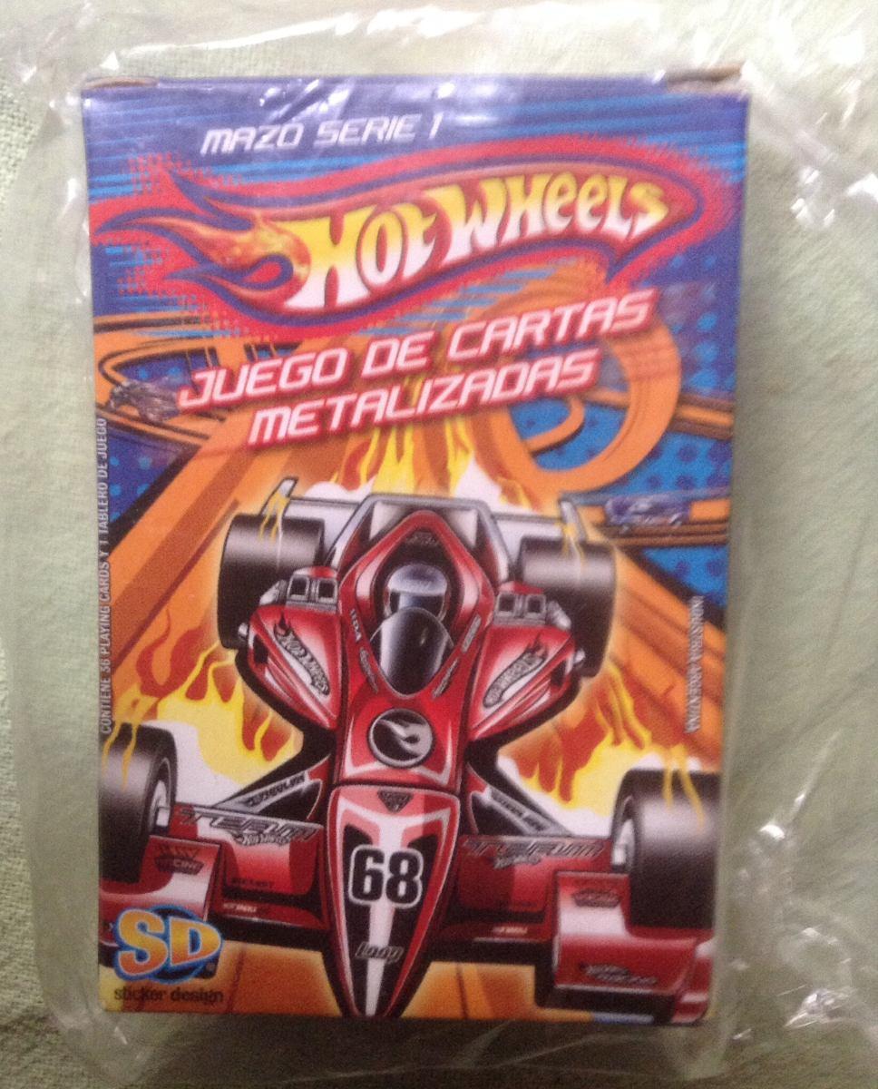 Hot Wheels Juego De Cartas Metalizadas Mazo Trading Cards 90 00