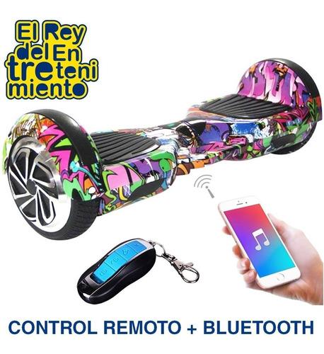 hoverboard eléctrico bluetooth + control + 10 conos el rey
