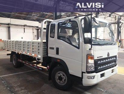 howo camión c/ caja piso labrado carga 6 toneladas a/a + iva
