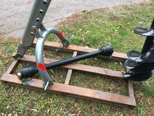 hoyadora, perforadora pocera p/tractor con 1 mecha de 30 cm