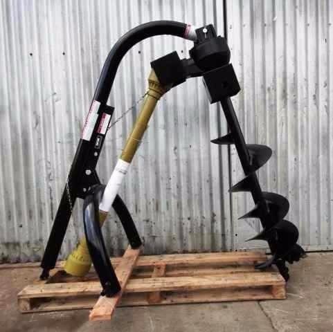 hoyadora perforadora pocera p/tractor con 1 mechas reforzada