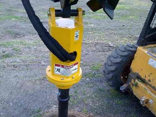 hoyadora - pocera hidráulica para minicargadora o  retro